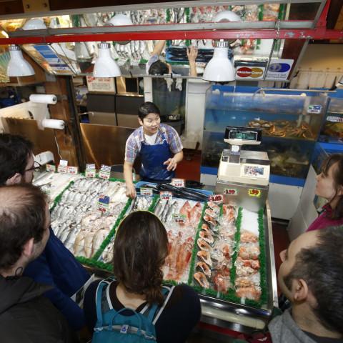 Fresh fish and seafood vendor