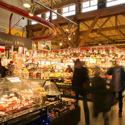 interior granville island public market food vendors