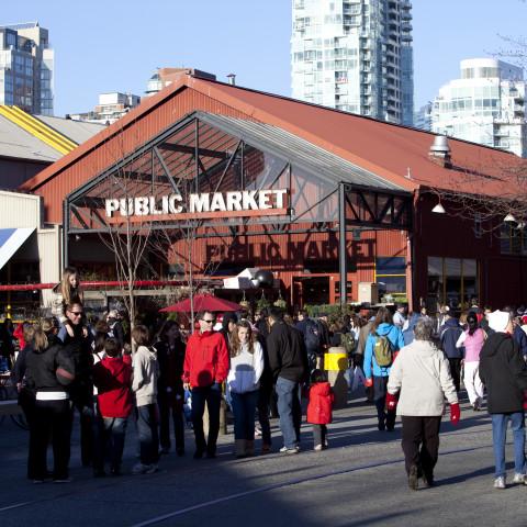 exterior granville island public market building